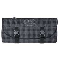 Jack Wolfskin Grand Saloon Washbag dark steel classic check