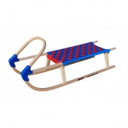 Sulov Lavina 110 cm s dřevěným madlem modrá / červená