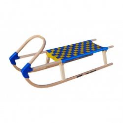 Sulov Lavina 110 cm s dřevěným madlem modrá / žlutá