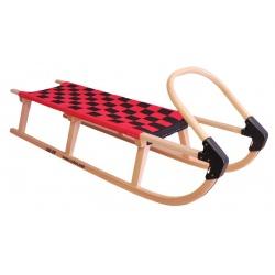 Sulov Lavina 125 cm s dřevěným madlem červená / černá