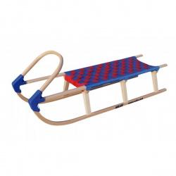 Sulov Lavina 125 cm s dřevěným madlem modrá / červená