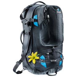 Deuter Traveller 60 + 10 l SL black / turquoise